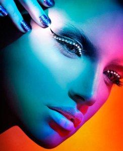 super star elle denmark magazine colorful beauty editorial 2